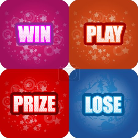 Win, Play, Prize, Lose Graphics