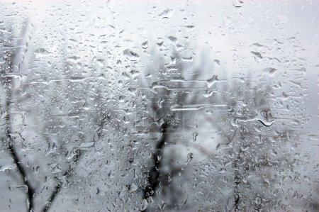 Photo pour Jour de pluie. gouttes de pluie sur la fenêtre - image libre de droit