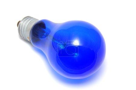 Photo for Blue bulb isolated on white background - Royalty Free Image