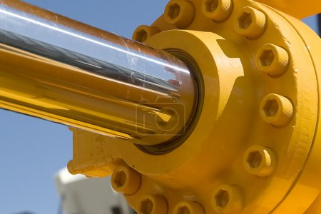 A hydraulic piston as part of big excavator...