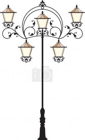 Illustration pour Lampe en fer forgé - image libre de droit