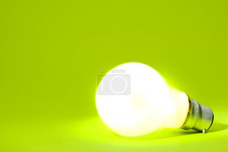 Light bulb going green