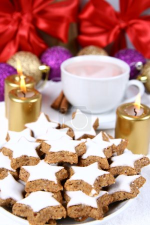 Christmas cookies & a cup of hot cocoa