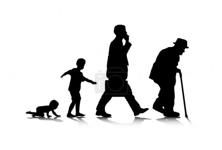 An abstract vector illustration of human aging....