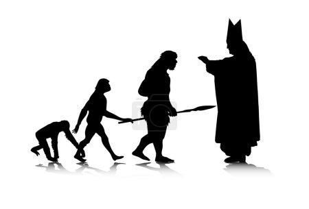 Illustration pour Illustration vectorielle abstraite de l'évolution humaine . - image libre de droit