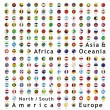 Two hundred of fully editable vector world flags w...