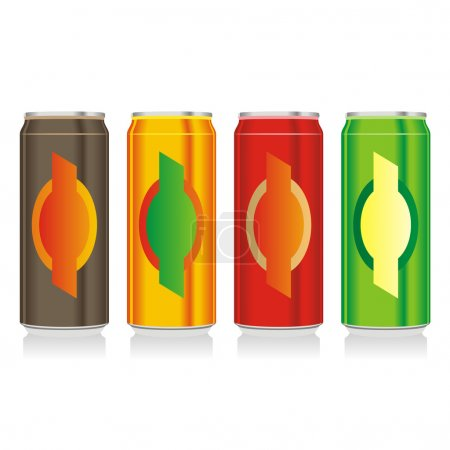 Isolated different beer cans