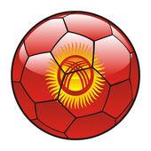 Vlajka Kyrgyzstánu na fotbalový míč