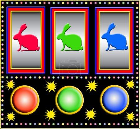 Slot machine with bunnies