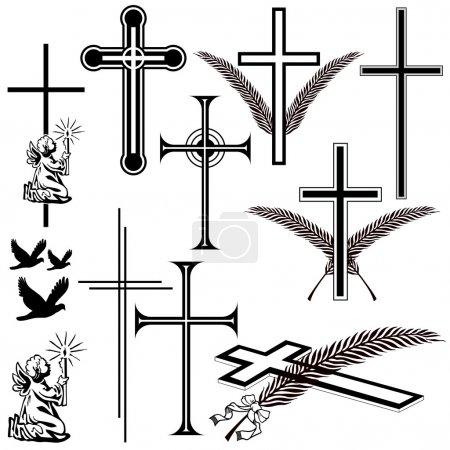 Illustration for Obituary symbols - Royalty Free Image