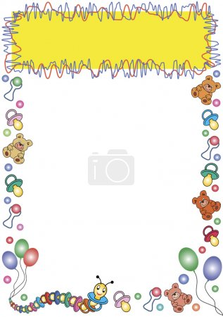 Toys border and yellow frame