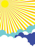 Sunny Sky Poster Background