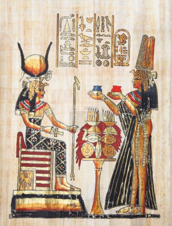 Photo pour Papyrus avec des éléments de l'histoire égyptienne ancienne. copier de la série Egypte. xxl de haute qualité. - image libre de droit