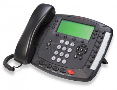 Business phone on white