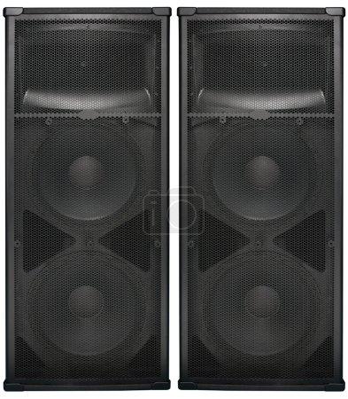 Big Audio speakers isolated on white