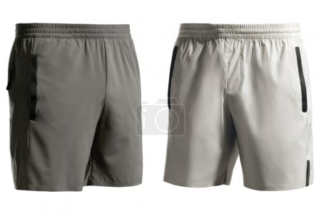 Sports shorts isolated on white + clipping path