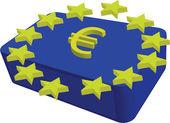 The blue dox and symbols euro