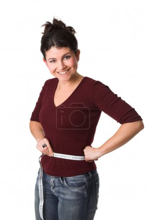 Woman having lost weight
