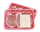 Uncooked pork chop