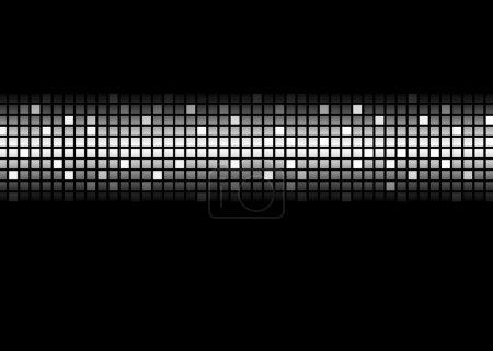 Photo pour Modèle abstrait de matrice de points noir et blanc - image libre de droit