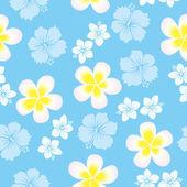 Seamless hibiscus pattern