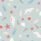 """Постер, картина, фотообои """"бесшовный морской образец"""""""