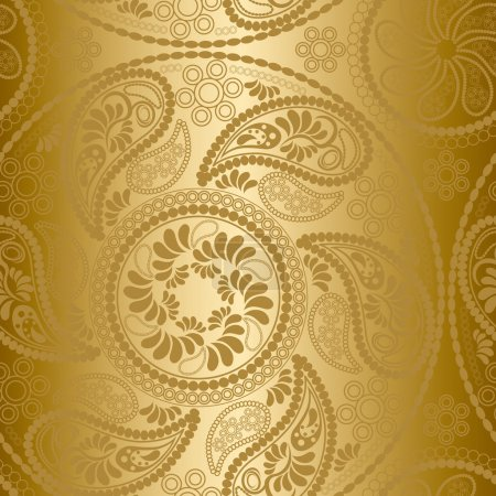 Illustration for Seamless gold mandala pattern - Royalty Free Image