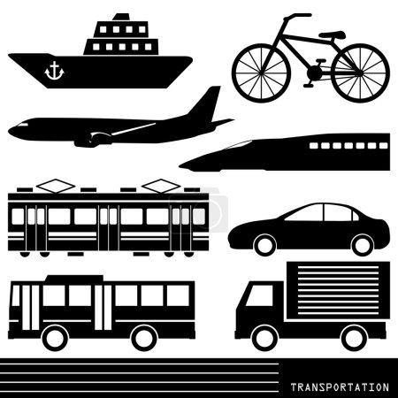 Transportation silhouette