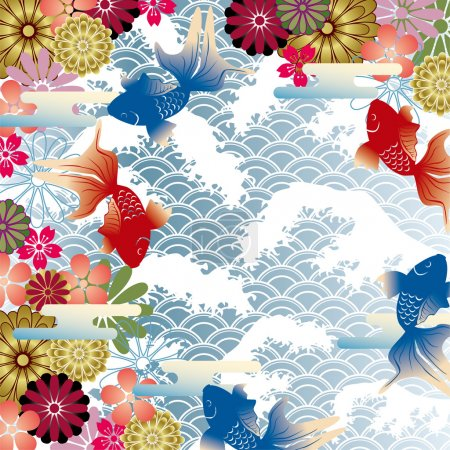 Illustration for Asian style background - Royalty Free Image