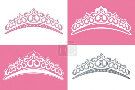 Photo for This graphic is 4 tiara image. Illustration vector. - Royalty Free Image