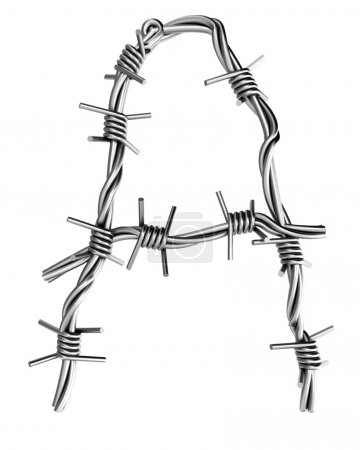 Barbed wire alphabet, a