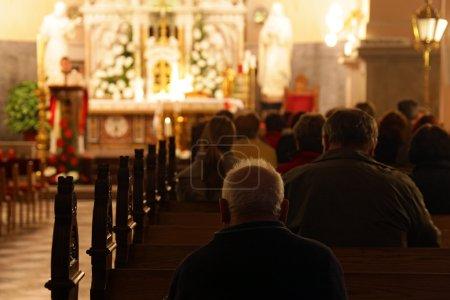 Photo for Praying in European church. Brezje, Slovenia - Royalty Free Image