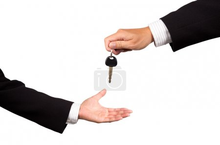 Car key from salesman
