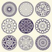 Editable vector ornaments