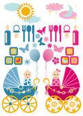 Baby set vector