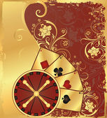 Casino background with roulette vector