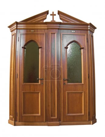 Wooden Confessional.