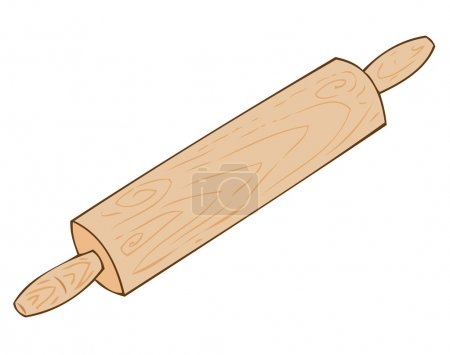 Wooden rolling-pin.