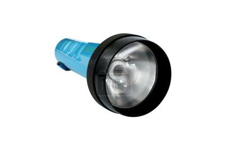 Old blue flashlight