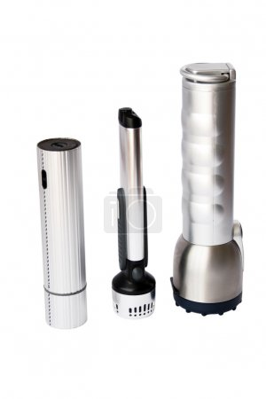 Three flashlights