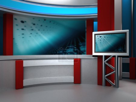 Photo for Studio tv 3d studio for tv tv news chroma camera - Royalty Free Image