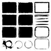 Vector grunge frames & lines