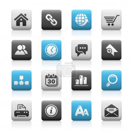 Illustration for Vector icon set for your website or presentation. - Royalty Free Image