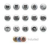 Network & Server // Metal Button Series