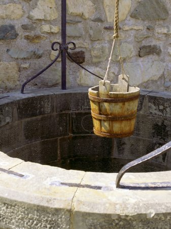 Photo for A water well with an old bucket in Fort Louisburg, Nova Scotia. - Royalty Free Image