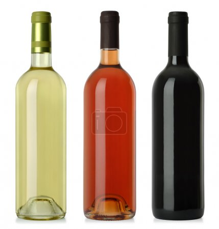 Wine bottles blank no labels
