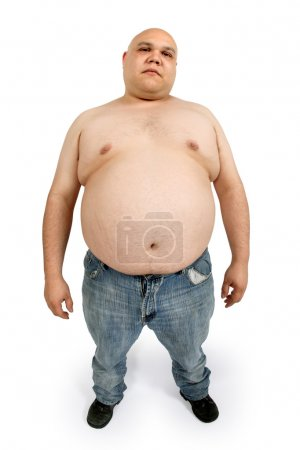 Overweight male - taken with fish-eye lens for exa...