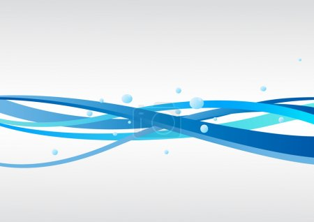 Illustration for Vector blue background with waves. Clip-art - Royalty Free Image