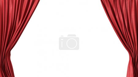 Foto de Abrió la cortina roja - Imagen libre de derechos