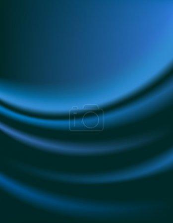 Illustration pour Rideau bleu foncé lisse pour fond - illustration vectorielle - image libre de droit